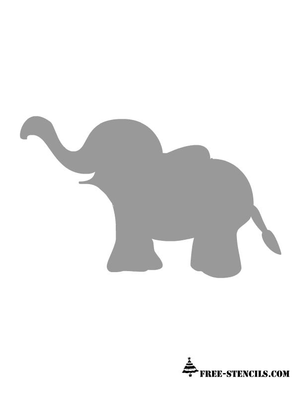 Wild image with regard to elephant stencil printable