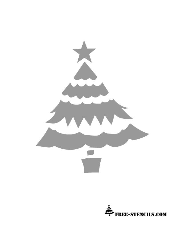 free printable christmas tree stencil