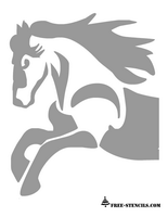 free printable horse stencil