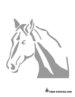 free printable horse face stencil