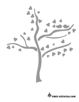 free printable love tree stencil