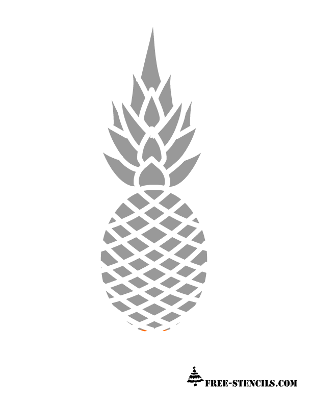 It is an image of Intrepid Pineapple Stencil Printable