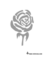 printable rose stencil for walls and fabric
