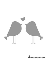 free printable love birds stencil